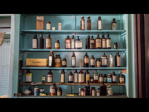 Abandoned 1950 s Drug Store Medicine Still Shelved Ghost Town
