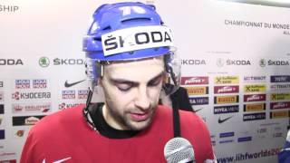 Robin Hanzl po zápase Finsko – Česko 3:4sn