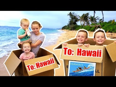 We Pretend to Send Ourselves Overseas To Hawaii skit Kids Fun TV Family Vacation
