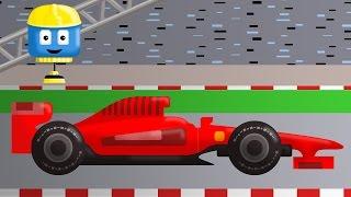 Mobil balap - Trek konstruksi Tom lan Matt   Kartun-kartun konstruksi kangge lare-lare