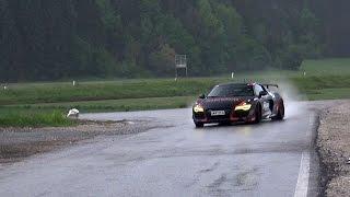 Crazy TWIN TURBO Audi R8 - Drifts, Revs & Acceleration Sound