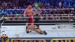 Triple H Vs Brock Lesnar Match Highlights HD
