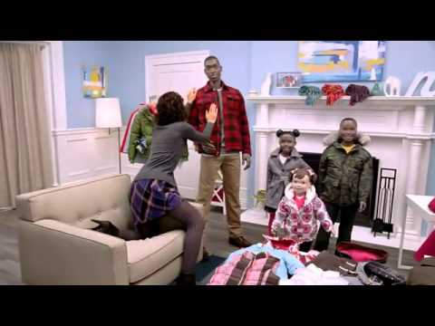 Toy Holmes as voice of SuperModelquin Michelle in Old Navy Presents Outerwear Party