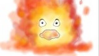 How to draw Calcifer from Howl\'s Moving Castle