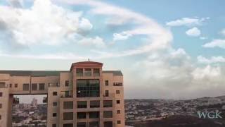 BEAUTIFUL RING CLOUD and Sound of Trumpets (SHOFAR) in Jerusaelm