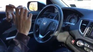 Hands free driving with Honda CRV