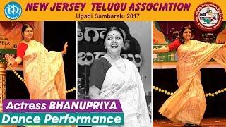 Actress BhanuPriya Dance Performance @ New Jersey Telugu Association Ugadi Sambaralu 2017