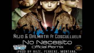 Ñejo & Dalmata Ft Cosculluela - No Necesito (Official Remix 2010)