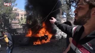 روسيا تقصف مدينة دوما بصواريخ  فراغية شديدة الانفجار وتخلف عشرات الضحايا بين المدنيين