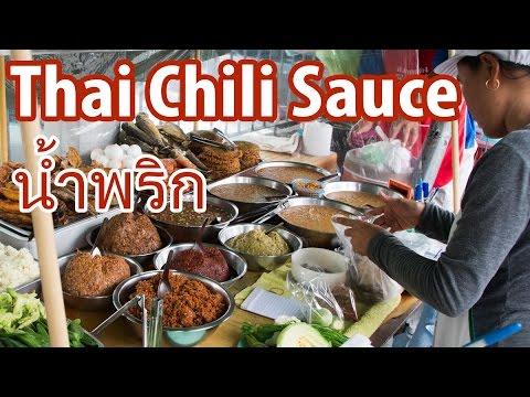 How to Eat Thai Nam Prik Thai Chili Sauce นำ้พริก