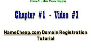 NameCheap Domain Registration Step-by-Step Tutorial