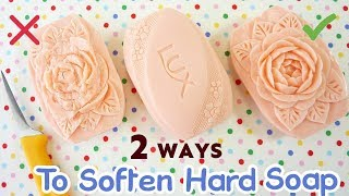 SOAP CARVING | How To Soften Hard Soap | Cómo ablandar jabón | EASY | ASMR | Satisfying |