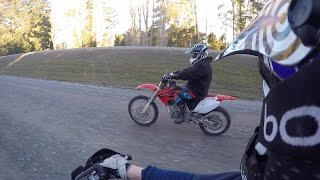 Kdx 200 vs crf 250x Drag racing and MORE !!
