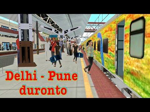 Delhi to Pune Duronto | indian train simulator