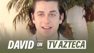 David Henrie interview for TvAzteca in Mexico