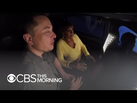 Elon Musk and Gayle King test drive his new Boring Company tunnel