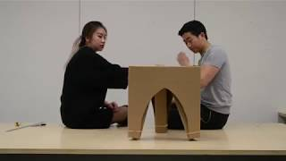 Chester | Cardboard Flat-Pack Stool