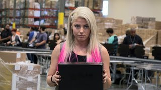 Raw Women's Champion Alexa Bliss invades Loot Crate HQ