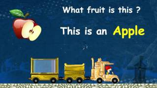 Learn Types of Fruits and Vegetables | English Animation Video For Children | Preschool Learning