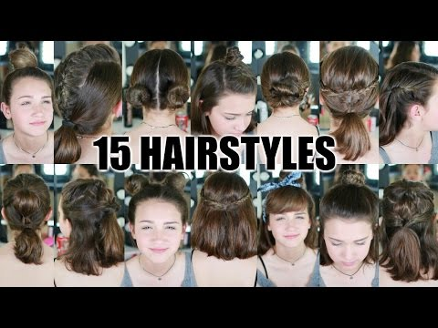 Xxx Mp4 15 Heatless Hairstyles For SHORT Hair BACK TO SCHOOL 3gp Sex