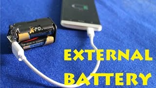 How to Make an external battery - Power Bank - for 3$