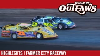 World of Outlaws Craftsman Late Models Farmer City Raceway April 2, 2017 | HIGHLIGHTS