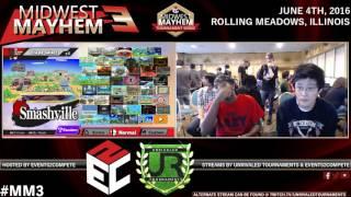 Midwest Mayhem 3 – Pools – LoF l False(Marth) vs. GR l Krow (Olimar)