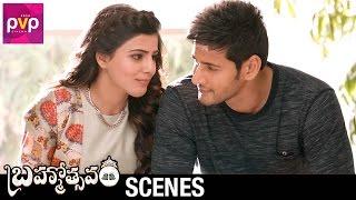 Samantha and Mahesh Babu Funny Conversation | Brahmotsavam Movie Scenes | Kajal Aggarwal | Pranitha