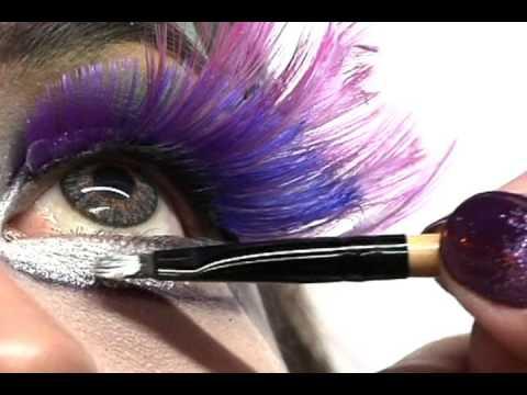 maquillaje de fantasia por Olguita de los Santos modelo Violeta Pinales