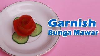 Cara Membuat Garnish Dari Buah Tomat (Bentuk Bunga Mawar)