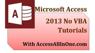 Access 2013 08 - Data Entry Forms