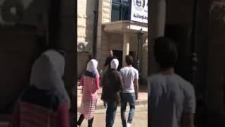 President Bashar Al Assad walking in the streets of Damascus, Syria on June 8, 2017
