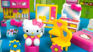 Hello Kitty Happy House Miniature with Disney Princess surprise egg by DisneyToysReview