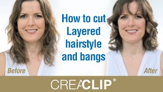 How to cut  Layered hairstyle and bangs