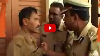 TP Senkumar against Police man at MG College