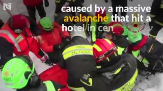Survivors pulled from avalanche hotel debris