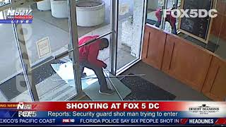 WOW! Man Breaks Glass To Gain Access At FOX 5 D.C. News Building