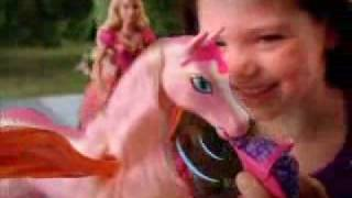 2008 Barbie Diamond Castle Glimmer Horse Commercial