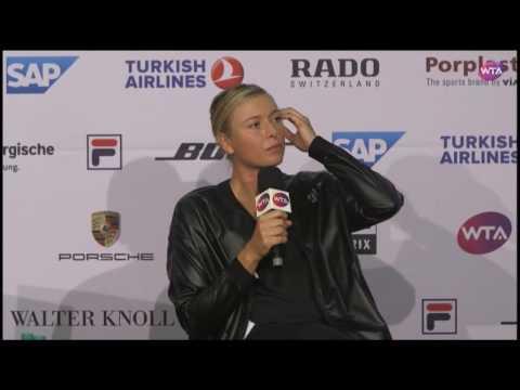 Maria Sharapova Press Conference | Porsche Tennis Grand Prix First Round