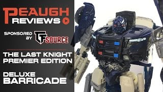 Video Review: Transformers: The Last Knight - Premier Edition Deluxe BARRICADE