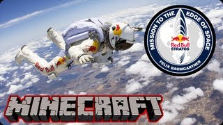 Red Bull Stratos Stunt Man Freefall in Minecraft!