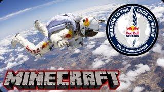 Red Bull Stratos Stunt Man Freefall in Minecraft!