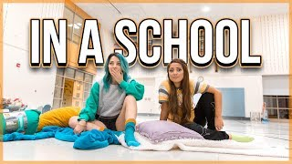 Twins Try Having a Sleepover in a School