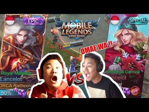 EPIC SKIN LANCELOT EPIC NOT COMEBACK Vs. Jeje Adriel Mobile Legends Indonesia Gameplay