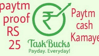 Unlimited Paytm Cash and rechage By Taskbucks trick and paytm proof