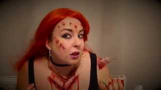 Halloween Zombie Return of the living dead 3 Julie sfx makeup