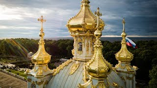 Beautiful Drone Flight Through St Petersburg Russia | 4K