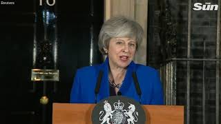 PM Theresa May statement outside Number 10 after winning the vote of confidence