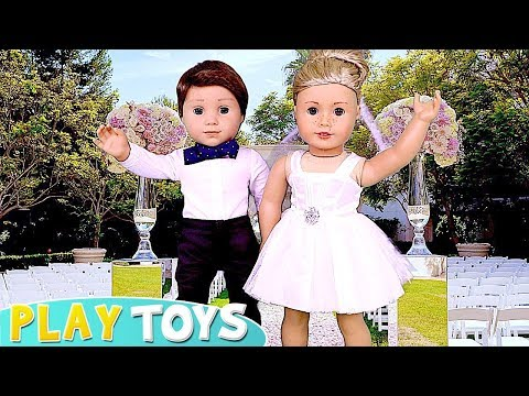 Xxx Mp4 Play American Girl Doll Wedding Day Party Dress Up And Spa Toys 🎀 3gp Sex