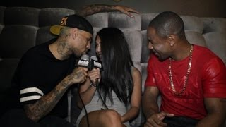 Chris Brown Interviews Tank and Gets Frisky with HotNewHipHop (